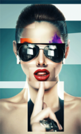 The-Sunglasses-Fotokunst-vrouw