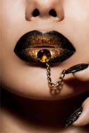 Golden-Lips-Fotokunst-vrouw