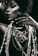 Glitter-Fotokunst-vrouw