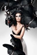 Black-butterfly-Fotokunst-vrouw