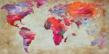 Fotokunst-wereldkaart