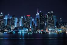 Skyline-Indigo-Fotokunst-steden