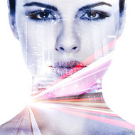 Portret-in-Pastelshade-Fotokunst-vrouw