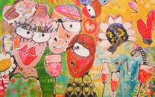 Bubbles-Bubbles-Bubbles-I-160-x-100-cm-Vrolijk-schilderij-groot