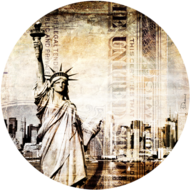 New-York-Liberty-|-Fotokunst-rond