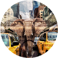 Elephant-in-New-York-|-Fotokunst-rond