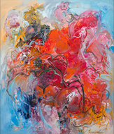 Spanish-Memory-100-x-120-cm-Kleurrijk-schilderij