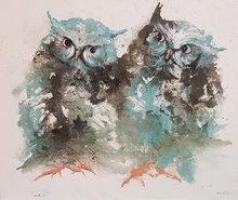 Overleg-120-x-100-Dieren-schilderij