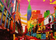 City-Life-140-x-100-cm-Kleurrijk-schilderij-New-York