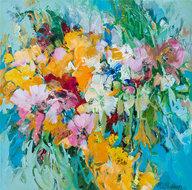 Flower-Valley-120-x-120-cm-Abstract-bloemen-schilderij
