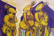 Samenzijn-150-x-100-cm-Groot-vrouwen-schilderij