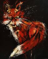 Follow-that-fox-100-x-120-cm-Dieren-schilderij