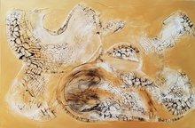 Pure-gold-150-x-100-cm-Groot-abstract-schilderij