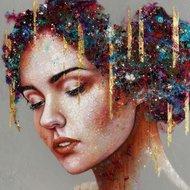 Belle-110-x-110-cm-Schilderij-vrouw