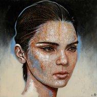 Kendall-110-x-110-cm-Schilderij-vrouw-epoxy