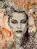 Fotokunst vrouw geschilderd en digitaal