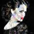 Woman on black background - Fotokunst vrouw_8